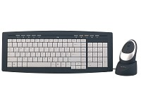 "GeneralKeys Multimedia Funk-Tastatur & optische Maus ""Slim RubberCoated"""