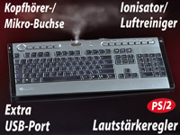 GeneralKeys Design-Multimedia-Tastatur Lufterfrischer & USB Port