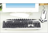 "GeneralKeys Multimedia Funk-Tastatur & optische Maus ""Basic Office Set"""