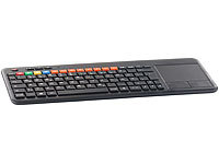 GeneralKeys Funk-Tastatur m. Touchpad, für Smart-TVs, PC, PS3/4 (refurbished)
